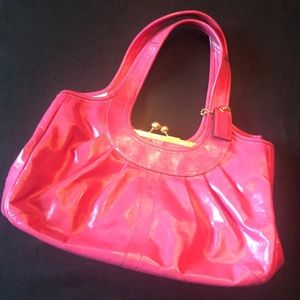Pink Patent Leather COACH Purse.